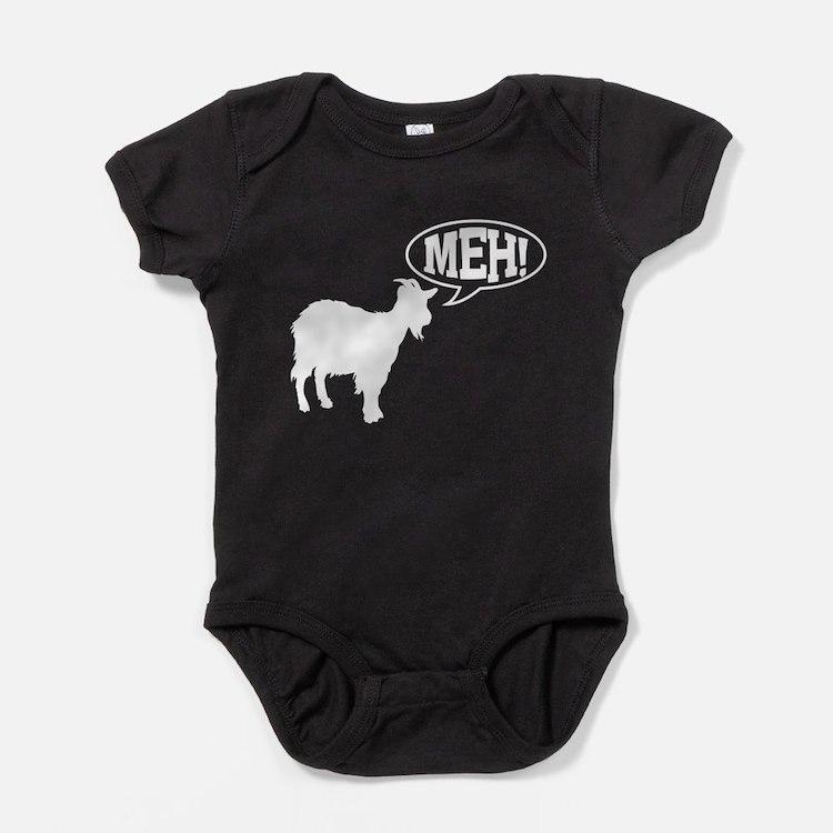 Goat meh Baby Bodysuit