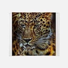 Unique Leopard pattern Throw Blanket