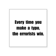 Typo Errorists Sticker