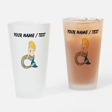Custom Blond Mermaid Drinking Glass