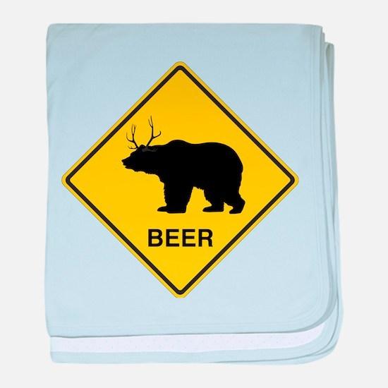 Beer bear deer baby blanket