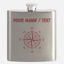 Custom Red Compass Flask