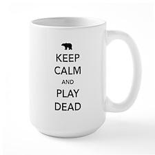 Bear keep calm and play dead Mugs