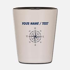Custom Blue Compass Shot Glass