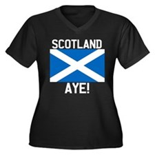 Scotland Aye Dark Plus Size T-Shirt