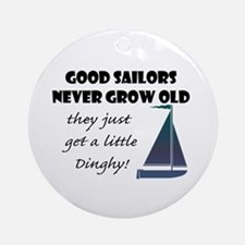 Good Sailors Never Grow Old, They Ornament (round)