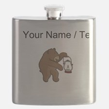 Custom Bear With Lantern Flask