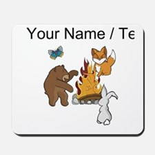 Custom Camp Fire Animals Mousepad