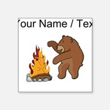 Custom Camp Fire Bear Sticker