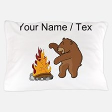 Custom Camp Fire Bear Pillow Case