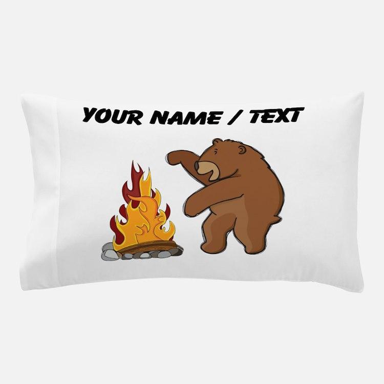 Custom Camp Fire Bear Pillow Case