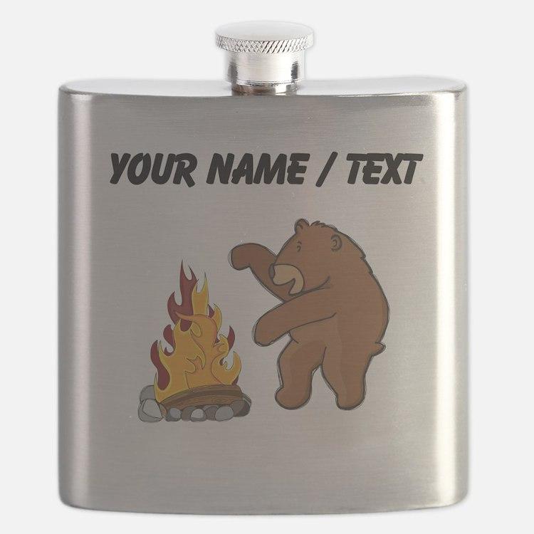 Custom Camp Fire Bear Flask