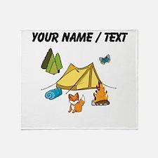 Custom Campsite Throw Blanket