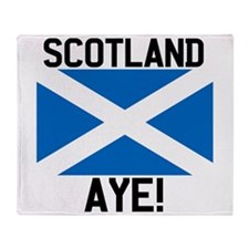 Scotland Aye Throw Blanket