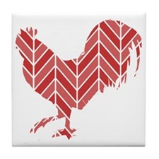Chevron Rooster Tile Coaster