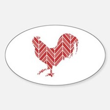 Chevron Rooster Decal