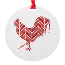 Chevron Rooster Ornament
