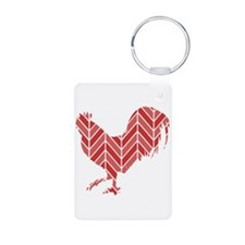 Chevron Rooster Keychains