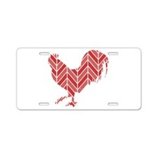 Chevron Rooster Aluminum License Plate