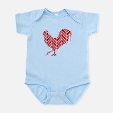 Chevron Rooster Infant Bodysuit