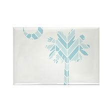 blue palmetto chevron Rectangle Magnet