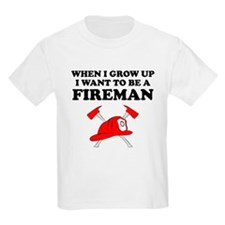 I Want To Be A Fireman T-Shirt