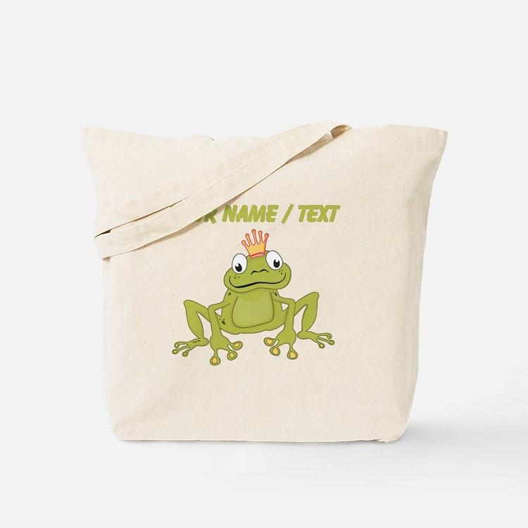 Custom Frog Prince Tote Bag