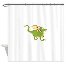 Green Dragon Shower Curtain