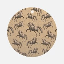 Cute Spanish horse Round Ornament
