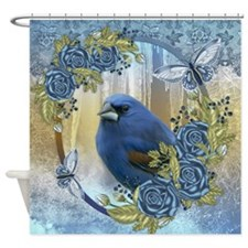 Fantasy Ice And Bluebird Winter Shower Curtain