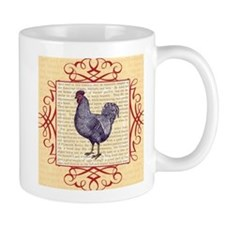 Vintage Plymouth Rock Chicken / Rooster Mugs