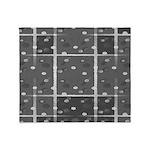 Grey Grid Throw Blanket