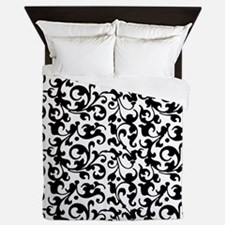 Funny Black and white Queen Duvet