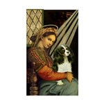 Madonna & Tri Cavalier Sticker (Rectangle)