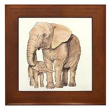 Funny Animal protection Framed Tile