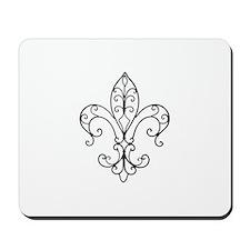 Fleur de Lis has Wired Curl Mousepad