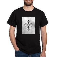 Fleur de Lis has Wired Curl T-Shirt