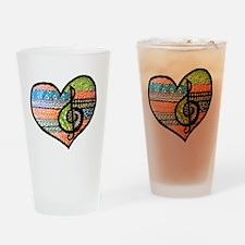Original Music Heart Treble Clef Ar Drinking Glass