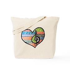 Original Music Heart Treble Clef Art Tote Bag