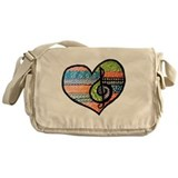 Music heart Messenger Bag