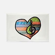 Original Music Heart Treble Clef Art Magnets