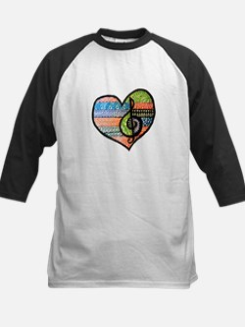 Original Music Heart Treble Clef Art Baseball Jers