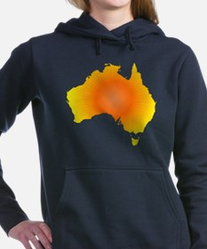 Sunny Australia Map Women's Hooded Sweatshirt