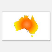 Sunny Australia Map Decal