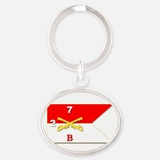 Guidon - B Troop 2nd Squadron 7t Oval Keychains