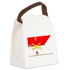 Guidon - B Troop - 2nd Squadron - Canvas Lunch Bag