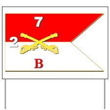 Guidon - B Troop - 2nd Squadron - 7th Ca Yard Sign