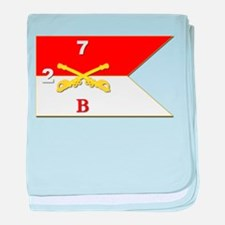 Guidon - B Troop - 2nd Squadron - 7th baby blanket
