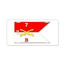 Guidon - B Troop - 2nd Squa Aluminum License Plate