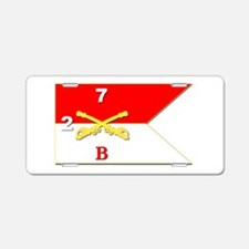 Guidon - B Troop - 2nd Squa Aluminum License Plate
